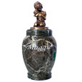 Faithful Friends Marble Pet Urn-Girl
