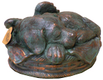 Sleeping Angel Dog Cremation Urn - Verdigris