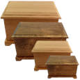 andcrafted Alder Wood Urns in Natural and Walnut Finish