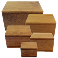 Chinook Alder Wood Urns in Natural and Walnut Finish