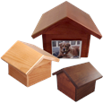 Shep Dog-House Wooden Urns