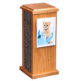 Kitty Post Handmade Wooden Urn with picture holder