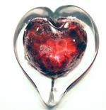 Pet Memorial: Boundless Heart, large shown in ruby red