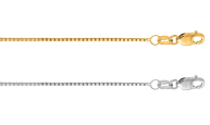 14K Gold Classic Box Chains in yellow or white gold