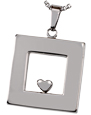 Additional view of Heart of Center pet memorial ashes pendant