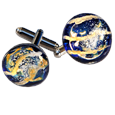 Pet Cremation Art Glass Cuff Links