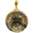 Helix pet cremation jewelry pendant in calico