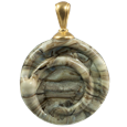 Helix pet cremation jewelry pendant in fossil