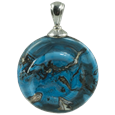 Helix pet cremation jewelry pendant in turquoise