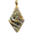 Rhombic cremation pendant in calico