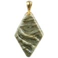Rhombic cremation pendant in fossil