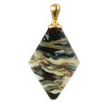Rhombic cremation pendant in tiger