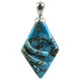 Rhombic cremation pendant in turquoise