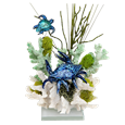 Crab and Turtle Coral Pet Cremation Sculpture