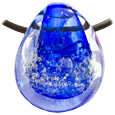Pet Memory Glass Urn Pendant: Ocean Blue