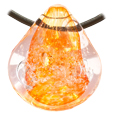 Pet Memory Glass Urn Pendant: Radiant Orange