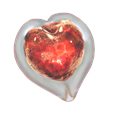 Red Boundless Heart glass memorial