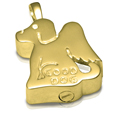 Urn opening shown of Good Dog Pet Cremation Jewelry Pendant
