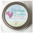 Healing Heart Candle Lid detail