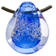 Pet Memory Glass Urn Pendant: Sky Blue