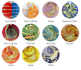 sun catcher art glass pet memorial color chart