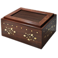 Photo Wood Pet Urn Chest shown plain with no photo