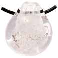 Pet Memory Glass Urn Pendant: Ivory White