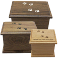 Wooden Cat Prints Urns