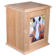 Alder Wood Equine Urn - Holds Photo