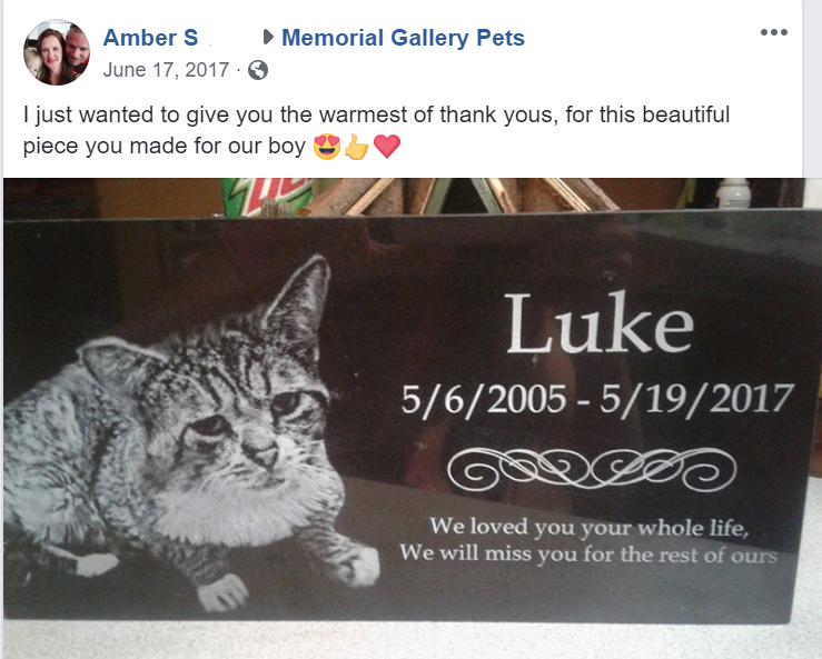 pet cat grave marker