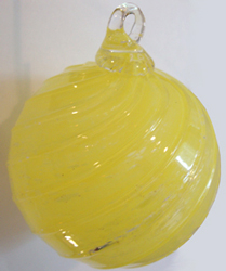 timeless sphere pet memorial shown in amber yellow