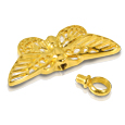 Pet Cremation Jewelry Stainless Steel Gilded Butterfly