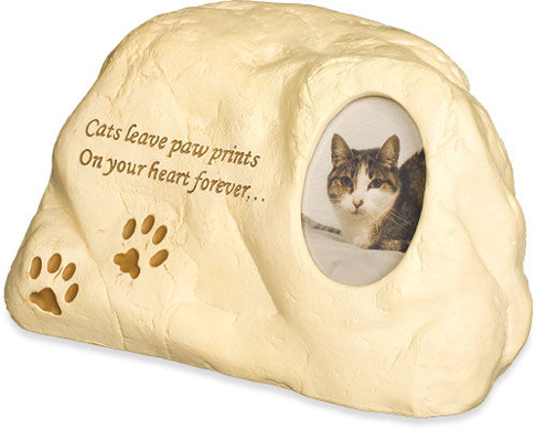 Cremation Cat Urn: Paw Prints, Poem, Photo