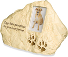 Cremation Dog Urn: Dog Paw Prints Rock