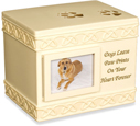 Cremation Dog Urn: Dog Paw Prints Keepsake Box