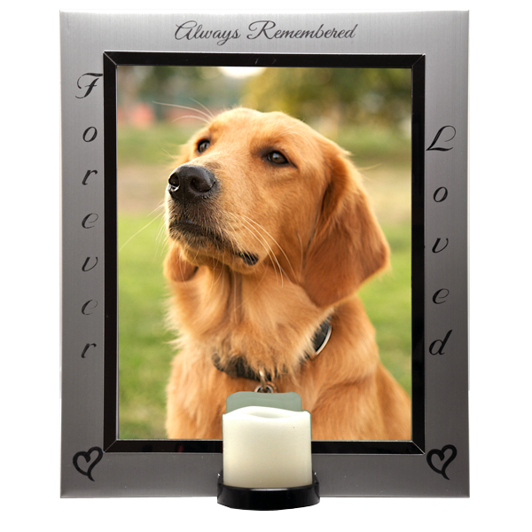 pet memorial frame eternal frame with candle - Dog Memorial Frame