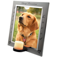 Pet Memorial Frame- Eternal Frame with Candle side view