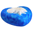 Side view of blue Eco-Friendly Shells Heart Pet Urn- Medium