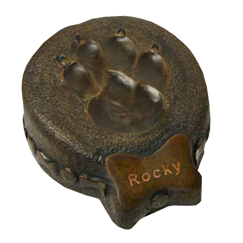 Sculpture Pet Urn Paw Print