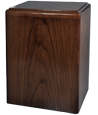 Simplicity Walnut Wood Pet Urn- Vertical