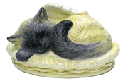 Sleeping Angel Cat Cremation Urn - Custom