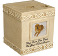 Cremation Dog Urn: Dog Paw Prints Keepsake Box 2