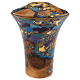 Wooden Pet Urns: Black Cherry Burl with Turquoise