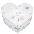 Unity Earthurn Floral Heart- Companion urn for two pets