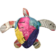 Front shown of Biodegradable Pet Urn: Newsprint Paper Turtle