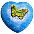 Eco-Friendly Heart Pet Urn- Hand-painted Butterfly Small