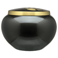 Front view of Gold Puppy Pawprints- Gloss pet urn