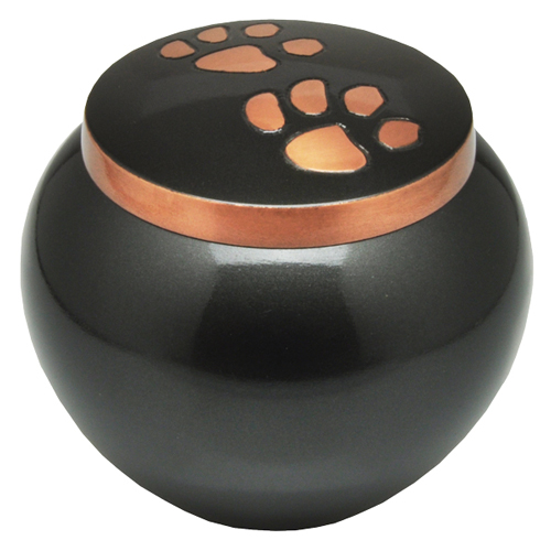 Pet Cremation Urns- Copper Puppy Pawprints- Gloss