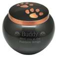 Copper Kitty Pawprints- Gloss pet urn engraved