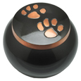 Pet Cremation Urns: Copper Puppy Pawprints- Gloss